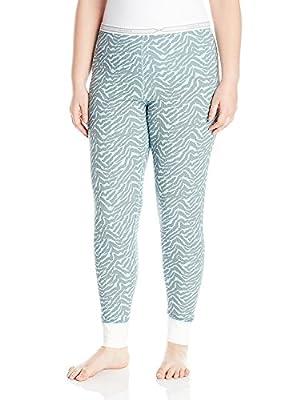 Hanes Plus Size Women's X-Temp Thermal Pant, Blue/Grey Zebra, X-Large