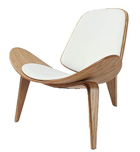 JKNMRL Silla Simple con un Solo sofá, Silla nórdica, Silla Adecuada de Smile Aircraft Shell, Blanco
