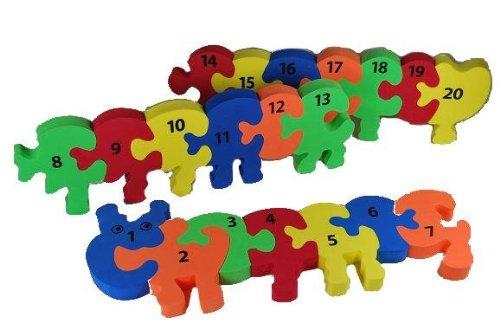 alles-meine.de GmbH Puzzle Teppich - Zahlenraupe Zahlen Lernen - PUZZLETEPPICH SPIELTEPPICH PUZZLEMATTE - Moosgummimatte / Moosgummi