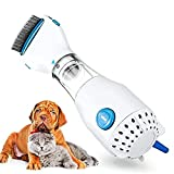 DXXWANG Dog Cat Electronic Hair Cleaning Brush Comb, Electric Lice Remover, Effectively Get Rid of Fleas, Lice and Hair Comb Pet Grooming
