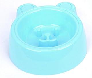 Pet Water Dispenser Smile Rabbit Slow Food Bowl Anti-Choke Dog Bowl(Blue) Cat Travel Drink Bottle