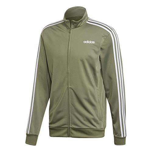 adidas Herren E 3S TT TRIC Sweatshirt, Legacy Green/White, M