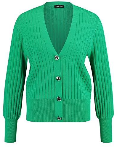 Taifun Jacke Strick Chaqueta, Color Verde, 50 para Mujer