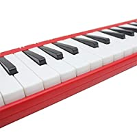 37ピアノ学生初心者の子供のためのキャリングバッグとキーメロディカ楽器 演奏やすい (Color : Red)