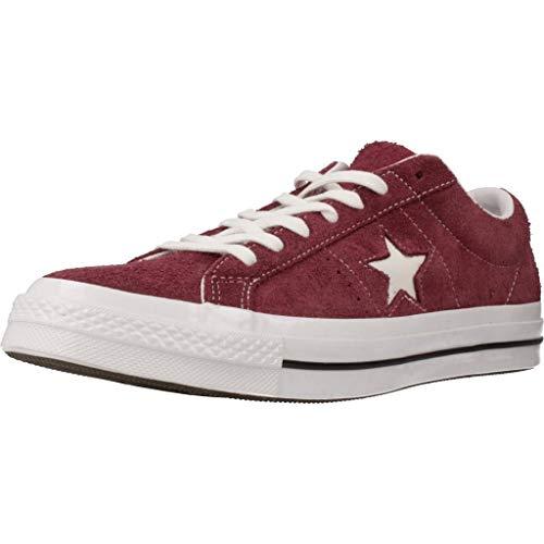 Converse Lifestyle One Star Ox, Zapatillas Unisex Adulto, Rojo (Deep Bordeaux/White/White 625), 36 EU