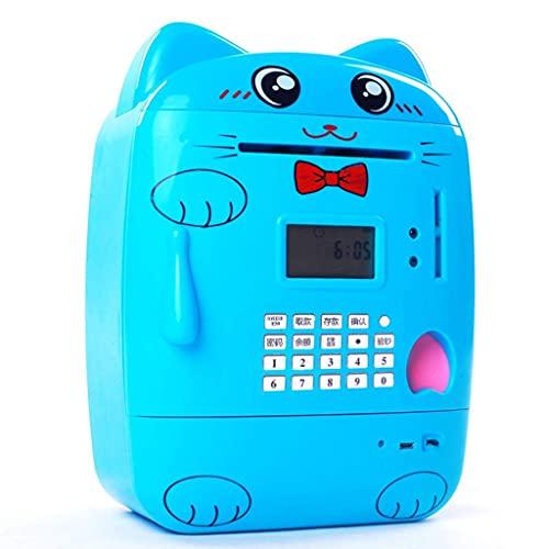 Alcancía Multifuncional para niños, Caja de Seguridad, Caja de Ahorro de Dinero, Bloqueo de código de contraseña, Banco de Dinero automático, Mini cajero automático electrónico para Regalo d