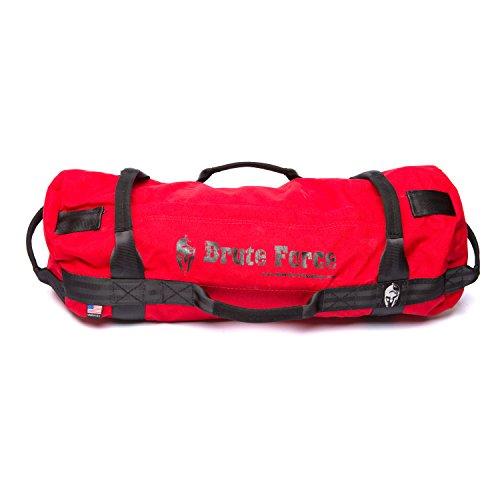 Brute Force Sandbags - Strongman - Red - Fireman Sandbag Deadman Weight sandbag Home Gym Equipment at Home Gyme Workouts Crossfit Home Gym Equipment