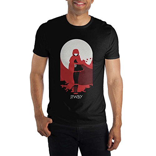 Bioworld RWBY Team Ruby Men's Black T-Shirt Tee Shirt-Small