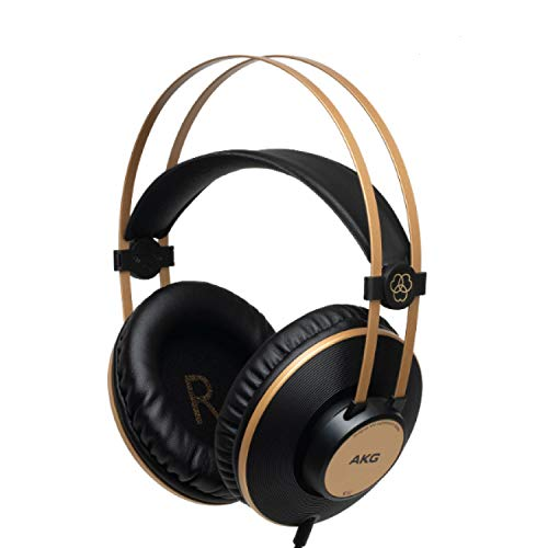 AKG Pro Audio K92 Over-Ear, Closed-Back, Studio Headphones, Matte Black and Gold