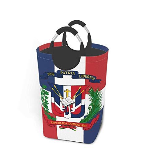 NA Republica Dominicana Paquete de Ropa Sucia 50l Cesto de lavandería Cesto de lavandería Impermeable con Asas Bolsa de lavandería Delgada y Plegable para lavandería Hogar Dormitorio