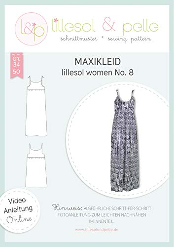 lillesol & pelle Schnittmuster lillesol Women No.8 Maxikleid in Größe 34-50 zum Nähen mit Foto-Anleitung und Video