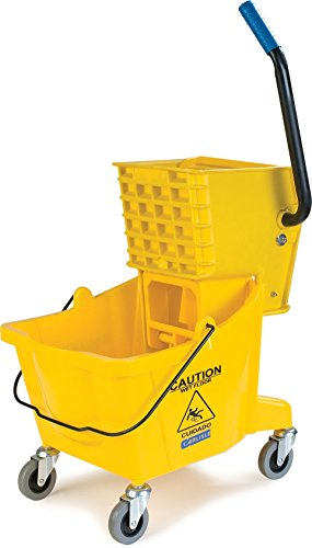Product Image of the Carlisle 3690804 Commercial Mop Bucket with Side Press Wringer, 26 Quart Capacity, Yellow