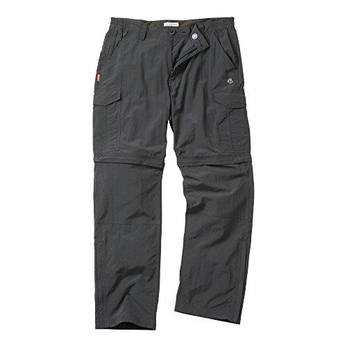 Craghoppers NosiLife - Pantalones convertibles repelentes de insectos para hombre (76cm - XL/Pimienta Negra)
