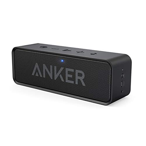 Anker SoundCore Mobiler Bluetooth 4.0 Lautsprecher, unglaubliche 24-Stunden-Akkulaufzeit, Dual-Treiber Wireless Speaker mit reinem Bass und eingebautem Mikrofon(Schwarz) (Generalüberholt)