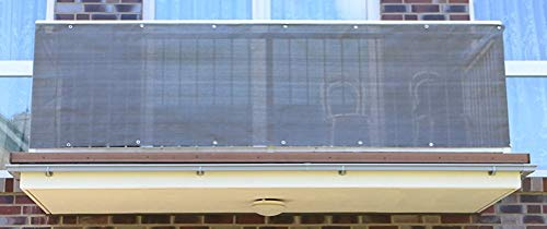 Smart Deko 400x90cm Anthrazit Balkonsichtschutz, Balkonverkleidung, Windschutz, Sichtschutz und UV-Schutz für Balkon, Gartenanlagen, Camping und Freizeit (400x90cm)