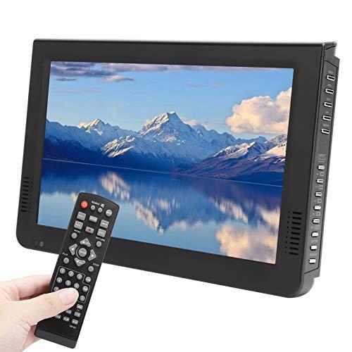 PUSOKEI Televisión-Televisión portátil de 10 Pulgadas 1920X1280 DVB-T / T2 Digital HD TV - Televisión analógica/Televisión Digital/ATV con Ventosa con Antena para el hogar/Coche/Oficina