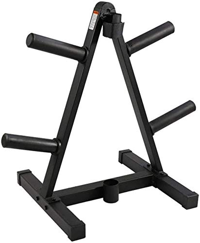 CHIYA Barbell Weight Plate Rack,Olympic Barbell Bar Storage Stand Rack Dumbbell Organizer Storage and Barbell Bar Holders with Rubber Sleeve for Home Gym