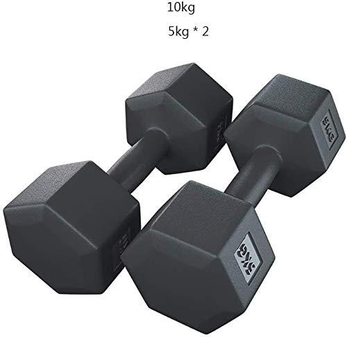 Negro hexagonal con mancuernas Gimnasio Dedicado fijo muscular aptitud brazo del entrenamiento con mancuernas Pesas Barra de elevación con mancuernas de los hombres, equipo de la aptitud de los aeróbi