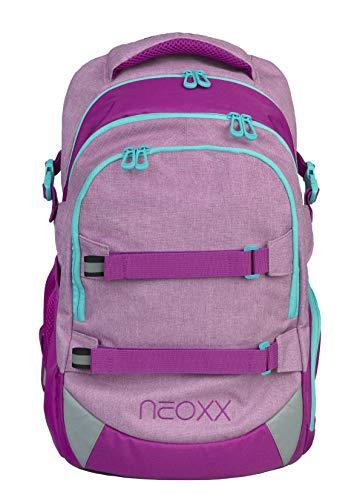 neoxx Active Schulrucksack You Glow Girl! - Rucksack für die weiterführende Schule, ergonomischer Schulranzen aus recycelten PET-Flaschen, Schultasche für Mädchen und Jungen