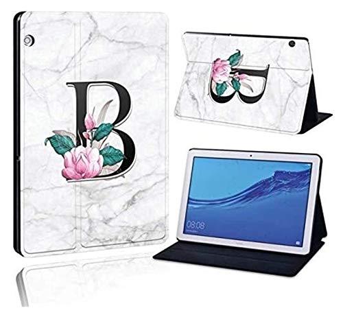 Accesorios De Pestañas para Huawei MediaPad T3 8.0 / T3 10 10.1 / T3 10 9.6, Impreso 26 Letras PU Cuero De La Tableta De Cuero Funda a Prueba De Golpes para Huawei MediApad T3 T5
