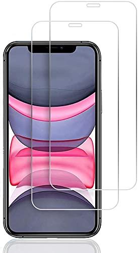 CAPTOR [2 Pezzi] Pellicola Protettiva Protezione Schermo per iPhone 11   XR (6.1 Pollici), Vetro Temperato Durezza 9H Ultra Resistente