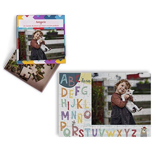 Fotoprix Puzzle Educativo Personalizado con la Foto del niño o de la niña | 5 Modelos Diferentes para coleccionar | Puzzle Infantil de 40 Piezas Grandes | Abecedario (Castellano)