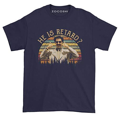 Men's He is Retard T-Shirt (M, Navy)