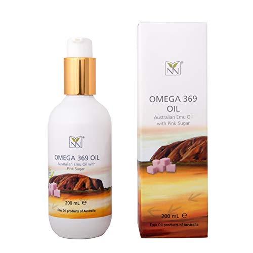 Huile d'Emu 100% pure de qualité pharmaceutique infusée avec du sucre rose (mélange d'huile naturelle)