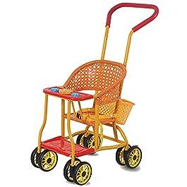 DUTUI Chaise en Osier Poussette Imitant Le Rotin Enfant Chariot Tissé Rotin Enfant Voiture Chaise en Osier Lumière…