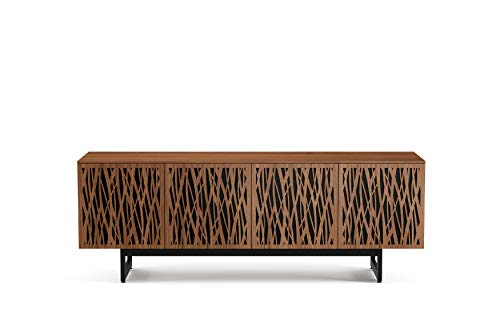 BDI Furniture Elements Quad Cabinet with Media Base, Natural Walnut
