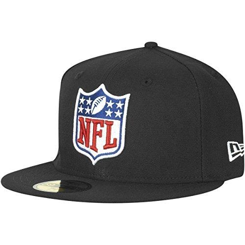 New Era 59Fifty Fitted Cap - NFL Shield Logo schwarz - 7 1/8