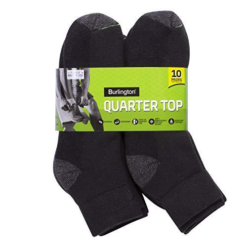 Burlington Comfort Power Men's Quarter Sock, 10 Pair Pack