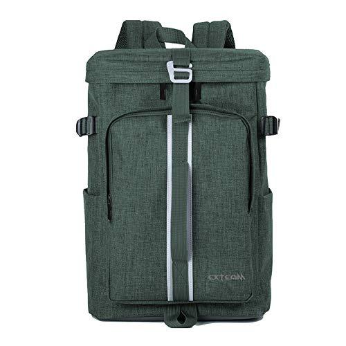 Oxford-stoffen tas met grote capaciteit voor mannen, casual schoudercomputerrugzakschooter-/vrijetijdstas, 44 × 30 × 16 cm, groen