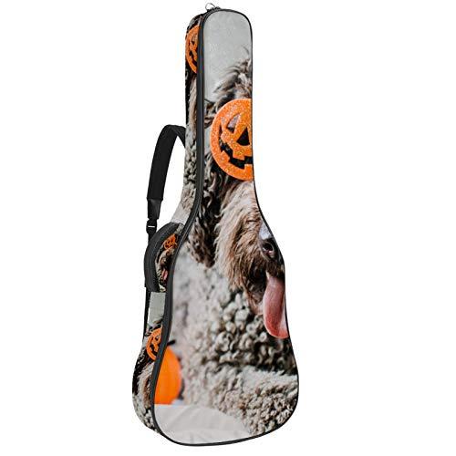Bennigiry Bolsa de guitarra para guitarrista de Halloween, color marrón
