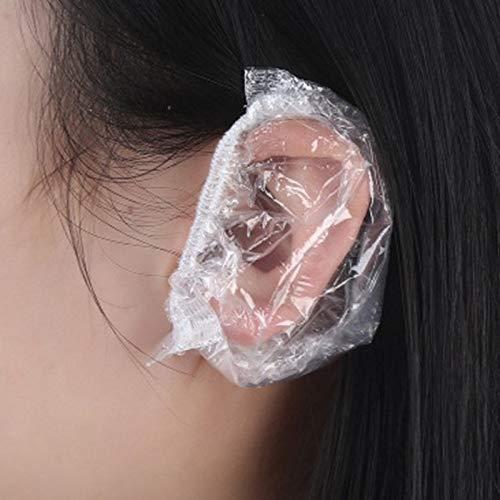 RANJINHaircut 100 PCS oreille étanche à usage unique en plastique protecteur coiffure Dye Protection Shield
