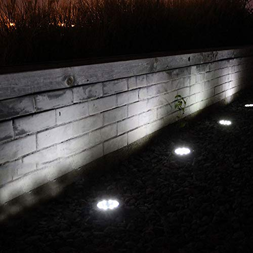 Under Ground Lamp Solar Power Buried Light 8 LED Ground Lights Outdoor Solar Power Under Ground Lamp Garden Decking Lamps for Garden Decking Outdoor Use
