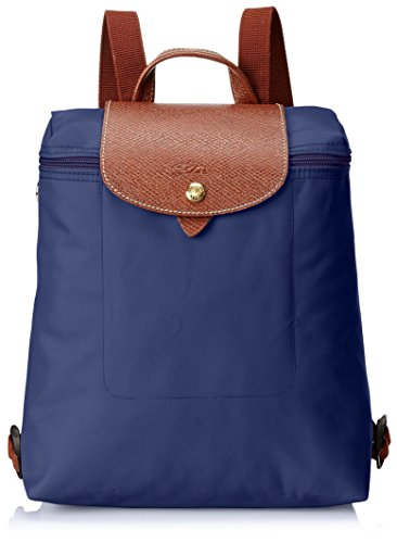 Longchamp Damen Le Pliage Backpack Rucksack, Blau (Navy), 23x40x55 cm