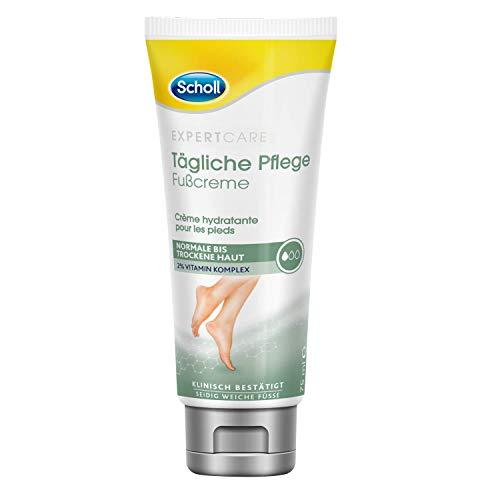 Scholl Voetcrème voor dagelijks gebruik, intensief voedende voetcrème voor de droge huid, met vitamine-complex, 1 x 75 ml