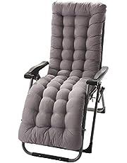 Nicole Knupfer - Cojines para tumbona, cojines de jardín – Funda acolchada para asiento reclinable para viajes/vacaciones/interior/exterior, Gris, 155*48*8