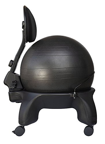 Isokinetics Inc. Adjustable Back Exercise Ball Office Chair - Tall Boy Frame (2' Higher) - with...
