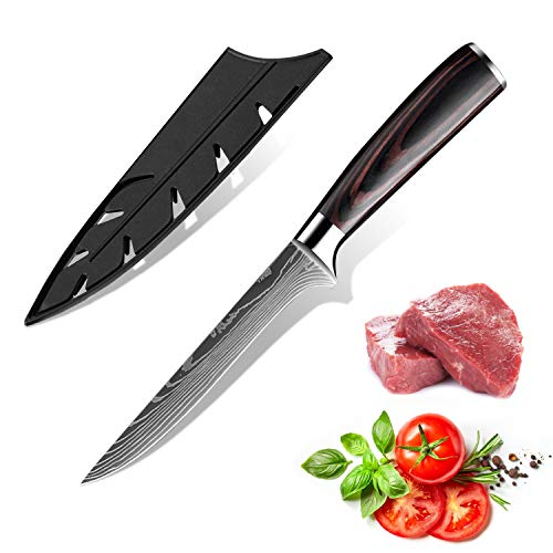 KEPEAK Cuchillo de Cocina, Cuchillos de Cocina Afilados de Acero Inoxidable de Diferentes Tamaños con Agarre Cómodo, Cuchillo de Cocina/Restaurante a Prueba de Herrumbre (H)