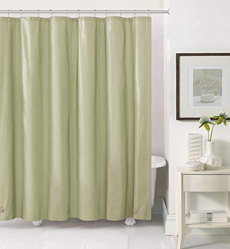 Hotel Collection Heavy Duty Mold & Mildew Resistant Premium PEVA Shower Curtain Liner with Rust Proof Metal Grommets - Assorted Colors (Sage)