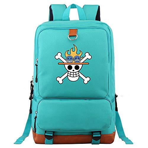 XYUANG One Piece Portgas·D· Ace Outdoor/School Bag Mochila de Viaje con Backpack para niñas con Bolsa para Mujeres y Hombres Ligeros-B