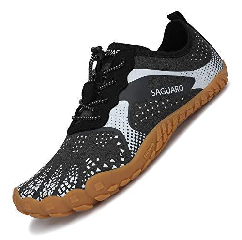 SAGUARO Zapatillas Minimalistas Hombre Mujer Zapatillas de Deporte Trail Running Calzado Trekking...