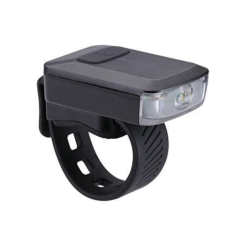BBB Cycling Bike Light Spark 2.0 USB Wiederaufladbare Frontscheinwerfer Wasserdicht   MTB Urban Road 45 Lumen BLS-151, Schwarz  