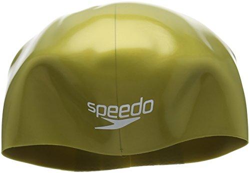 Speedo Fastskin cap Au Cuffia Nuoto, Oro/Nero, M