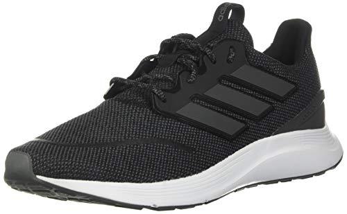adidas mens Energyfalcon Running Shoe, Black/Grey/White, 10.5 US