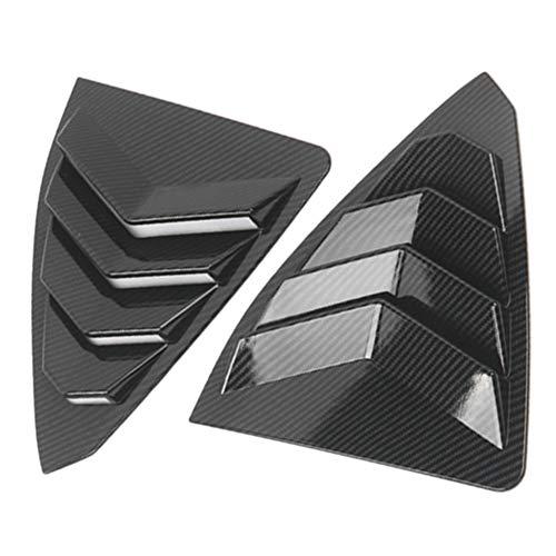 2-teilige Auto-Carbon-Seitenlüftungsfenster-Lamellenverkleidung für Lexus ES250 / 300H 2018-2019