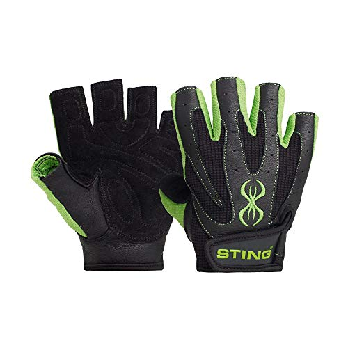 STING Atomic Weight Lifting Gloves for Bodybuilding, Powerlifting, and Crossfit – Green, L