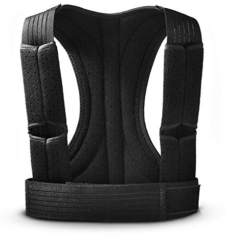 Apark Haltungskorrektur für Männer & Frauen, Unterstützung für Wirbelsäule & Rücken - Lindert Nacken, Rücken und Schulterschmerzen - Verstellbarer, atmungsaktiver Geradehalter und Rückenbandage - M